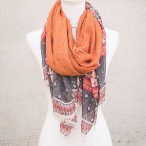 Floral & Paisley Patterned Scarf